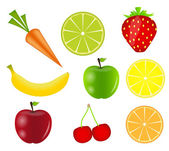 Fresh fruits vector illustration — Stock vektor