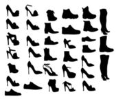 Chaussures silhouette vector illustration eps10 — Vecteur