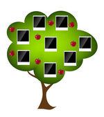 Family tree vector illustration — Stock Vector