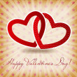 Happy Valentines Day card with heart. Vector illustration — Stock Vector #16273719