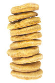 Stack of cookies isolated on white — Stock Photo