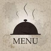 Restaurant menu template in grunge retro style vector illustrati — Stock Vector
