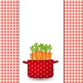 Kırmızı ot havuç ile. organik, diyet, sağlıklı gıda simgesi. ben vektör — Stok Vektör