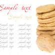 Chip cookie isolated on white background — Stock Photo
