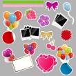 Vettoriale Stock : Set of scrapbook elements. Vector illustration.