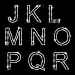 diamant alfabet vectorillustratie — Stockvector