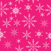 Seamless snowflakes background. Vector illustration — Vector de stock