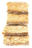 白で隔離されるクッキーのスタック — ストック写真