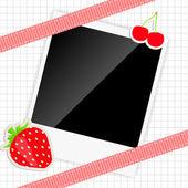 Scrapbook elementen met foto's frame vectorillustratie — Stockvector