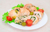 Tasty stuffed Chicken Salad . — 图库照片