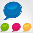 Speech bubbles set vector illustration - Stock Vector