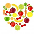 Stock Vector: Fresh fruits vector illustration
