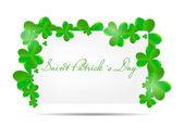 Saint Patrick`s day background vector illustration — Stockvector