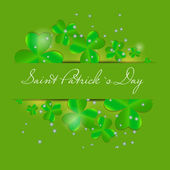 Saint Patrick`s day background vector illustration — Stock Vector