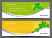 Saint Patrick`s day banner vector illustration — Stock Vector