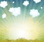 Naturliga retro grunge floral bakgrund vektor illustration — Stockvektor