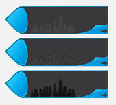 Vector illustration of cities silhouette. EPS 10. — Stock Vector