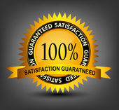 Fatisfaction guaranteed label vector illustration — Stock Vector