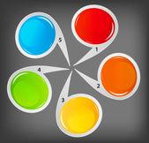 Farklı iş des için renkli dairesel afiş kavramı — Stok Vektör
