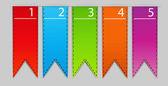 Stylish bookmarks. Vector — Stock Vector