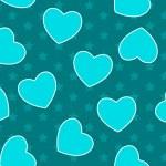 Heart love seamless pattern background. Vector illustration — Stock Vector #22069357