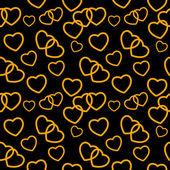 Heart love seamless pattern background. Vector illustration — Stock Vector