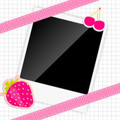 Scrapbook elements with photos frame vector illustration — Cтоковый вектор