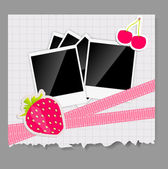 Scrapbook elements with photos frame vector illustration — 图库矢量图片