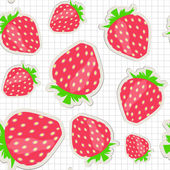 Seamless pattern with strawberry. Vector illustration — Stock Vector