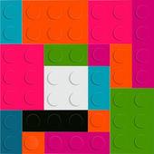 Lego block seamless pattern vector illustration — Stock Vector