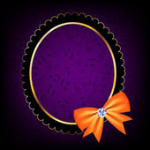 Vintage frame with bow vector illustration — ストックベクタ