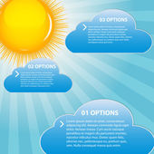 Cloud and sunny background vector illustration — Stock Vector