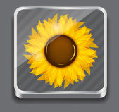 Sunflowers vector illustration background vector illustration — Stock Vector