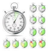 Stopwatch vector illustraion — Stock Vector