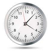 Silver watch vector illustration — Stock Vector