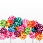 abstrait coloré avec des fleurs. illustration de raster — Photo