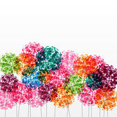 Abstract colorful background with flowers. Raster illustration — Foto Stock