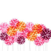 Abstract colorful background with flowers. Raster illustration — Photo