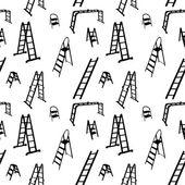 Seamless pattern of ladder silhouette. vector illustration. — Stock Vector