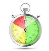 Kronometre vektör illustraion — Stok Vektör