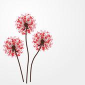 抽象炫彩背景与鲜花。矢量插画 — 图库矢量图片