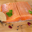 Foto de Stock  : Fresh salmon fillet