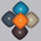 INFOGRAPHICS design elements vector illustration — Stock Vector