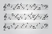 Abstact notas musicales. ilustración vectorial — Vector de stock