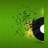 Illustrazione vettoriale di musica astratto sfondo per il vostro disegno — Vettoriale Stock
