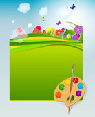 Vector illustration background with easter eggs — 图库矢量图片