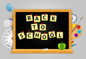 Back to School vector Background — Stockvektor
