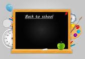 Volta para o fundo do vector de escola — Vetorial Stock
