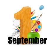 1 september date vector illustration — Stock Vector