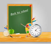 Back to School vector Background — Vettoriale Stock